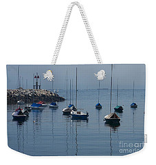 Weekender Tote Bag featuring the photograph Sail Boats  by Eunice Miller