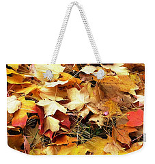 Weekender Tote Bag featuring the photograph Nothing But Leaves by Mike Ste Marie