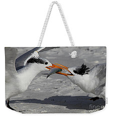 Nothing Says I Love You Like A Fish Weekender Tote Bag by Meg Rousher