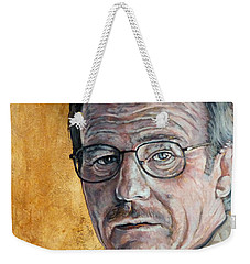 Weekender Tote Bag featuring the painting Nothing To Lose by Tom Roderick