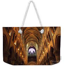 Notre Dame Ceiling Weekender Tote Bag