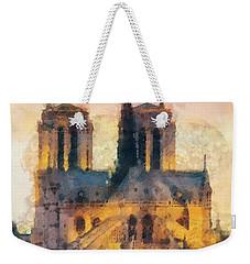 Notre Dame De Paris Weekender Tote Bag by Mo T