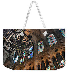 Notre Dame Interior Weekender Tote Bag by Jennifer Ancker