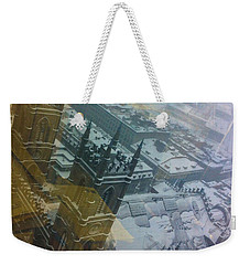 Notre Dame On The Vertical Weekender Tote Bag by Valerie Rosen