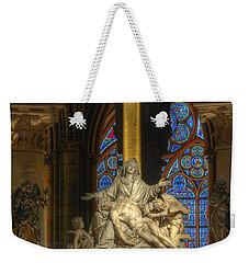 Notre Dame Pieta Weekender Tote Bag
