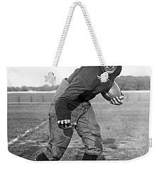 Notre Dame Star Halfback Weekender Tote Bag by Underwood Archives