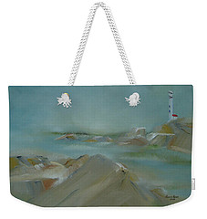 Weekender Tote Bag featuring the painting Nova Scotia Fog by Judith Rhue