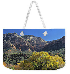 Weekender Tote Bag featuring the photograph November In Sedona by Penny Meyers