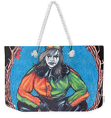 Weekender Tote Bag featuring the drawing November Snow by Michael  TMAD Finney