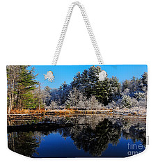 November Snow Weekender Tote Bag by Mim White