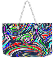Novino  Clueless In Seattle  Funny Comedy Cartoon Background Designs  And Color Tones N Color Shades Weekender Tote Bag