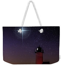 Star Over Annisquam Lighthouse Weekender Tote Bag by Jeff Folger