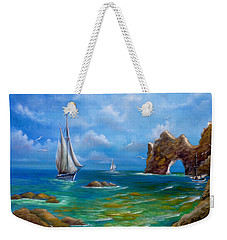 Weekender Tote Bag featuring the painting Now Voyager by Patrice Torrillo