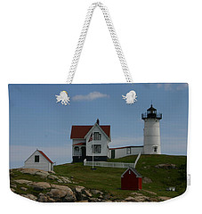 Nubble Light House York Maine Weekender Tote Bag by Denyse Duhaime