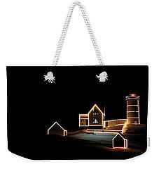 Nubble Lighthouse Christmas Lights Weekender Tote Bag