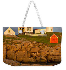 Nubble Lighthouse No 1 Weekender Tote Bag by Jerry Fornarotto