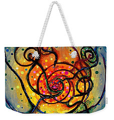 Nuclear Fusion Weekender Tote Bag by Regina Valluzzi