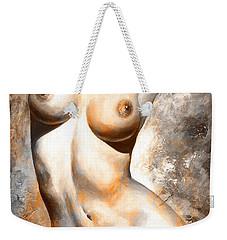 Nude Details - Digital Color Version Rust Weekender Tote Bag