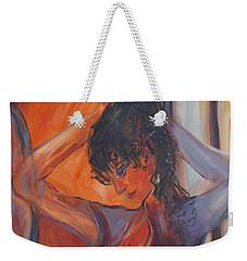 Nude Dressing Weekender Tote Bag by Avonelle Kelsey