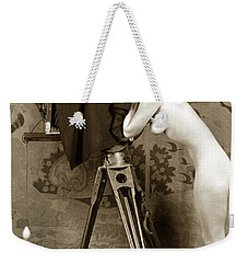 Nude In High Heel Shoes With Studio Camera Circa 1920 Weekender Tote Bag