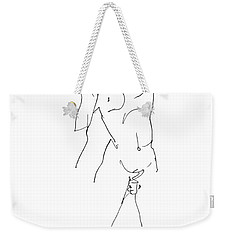 Nude-male-drawing-11 Weekender Tote Bag