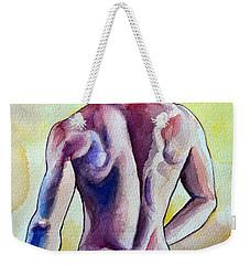 Nude Naked Muscle Male Back Weekender Tote Bag