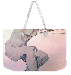 Nude Of A Dreamy Young Woman Weekender Tote Bag by Greta Corens