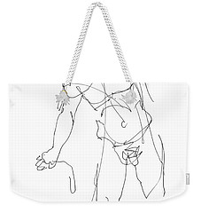 Nude_male_drawing_30 Weekender Tote Bag