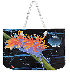 Weekender Tote Bag featuring the painting Nudibranche by Dianna Lewis