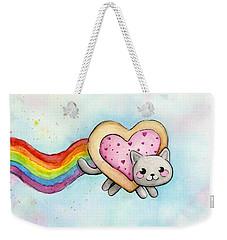 Nyan Cat Valentine Heart Weekender Tote Bag