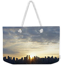 Nyc Sunrise Panorama Weekender Tote Bag