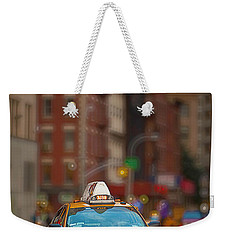 Taxi Weekender Tote Bag by Jerry Fornarotto