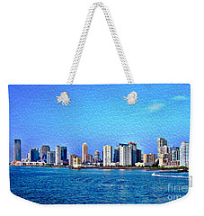 Weekender Tote Bag featuring the photograph Nyc  The Big Apple  by Judy Palkimas