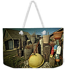 Weekender Tote Bag featuring the photograph Nye Beach Buoys by Thom Zehrfeld