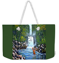 Nymph In Pool Weekender Tote Bag