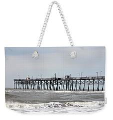 Oak Island Beach Pier Weekender Tote Bag