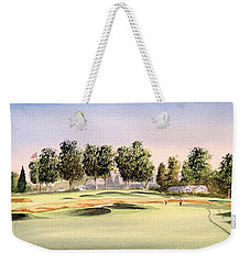 Weekender Tote Bag featuring the painting Oakmont Golf Course 14th by Bill Holkham