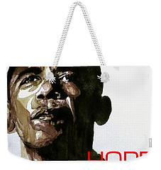Obama Hope Weekender Tote Bag