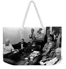 Obama In White House Situation Room Weekender Tote Bag by War Is Hell Store