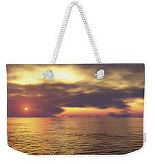 Weekender Tote Bag featuring the digital art Ocean 2 by Mark Greenberg