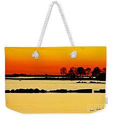 Orange Sunset Weekender Tote Bag by Carol F Austin