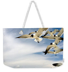 Weekender Tote Bag featuring the photograph Ocean Birds by Iconic Images Art Gallery David Pucciarelli