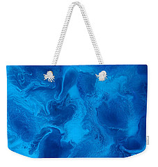 Ocean Blue Abstract Painting Weekender Tote Bag
