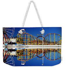 Ocean City Amusement Pier Reflections Weekender Tote Bag