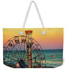 Ocean City Nj Wonder Wheel And Double Shot Weekender Tote Bag