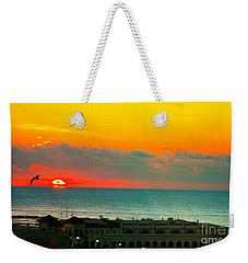Ocean City Sunrise Over Music Pier Weekender Tote Bag