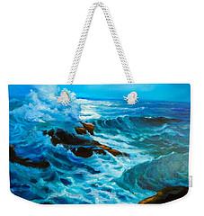 Weekender Tote Bag featuring the painting Ocean Deep by Jenny Lee