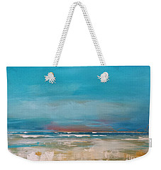 Weekender Tote Bag featuring the painting Ocean by Diana Bursztein