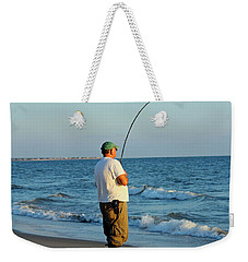 Weekender Tote Bag featuring the photograph Ocean Fishing by Cynthia Guinn