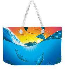 Ocean Freedom Weekender Tote Bag by MGL Studio - Chris Hiett